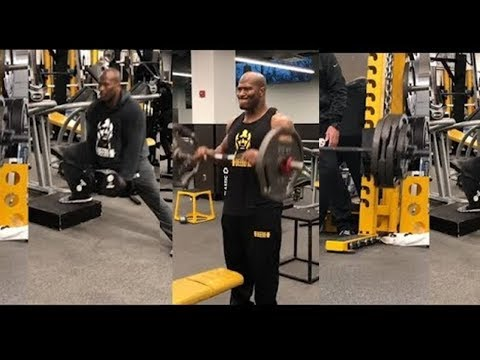 The Newest New England Patriot James Harrison Putting In Gym Work!