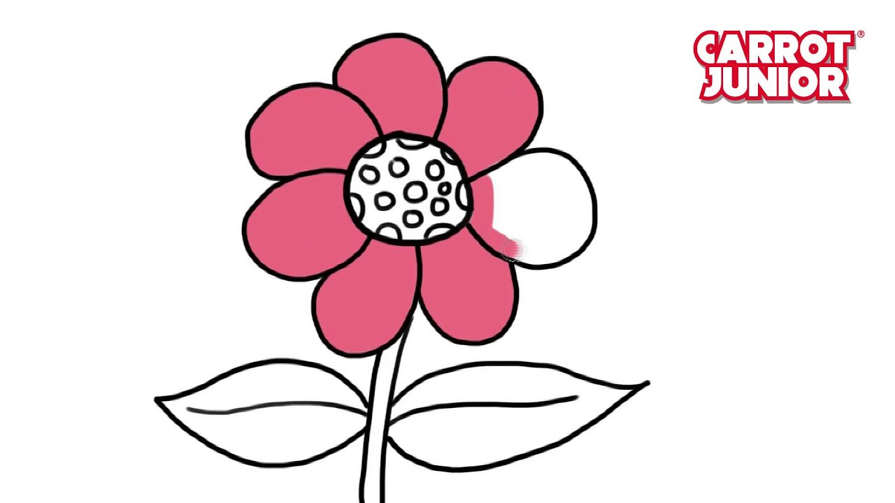 How To Draw Flower Super Simple Drawing For Kids