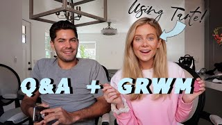 Answering Questions & GRWM + Dylan | Using Tarte!