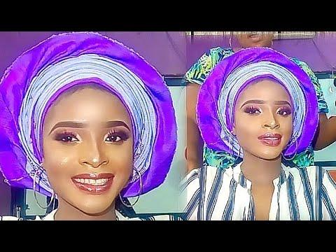 AFRICAN BRIDAL PLEATS FAN GELE