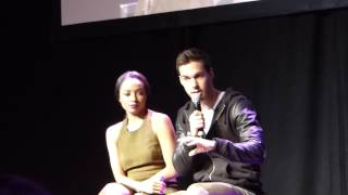Chris Wood and Kat Graham at Bloodynightcon Brussels 2015 Q&A