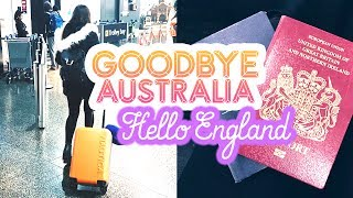 MOVING VLOG: Goodbye Australia, Hello England.