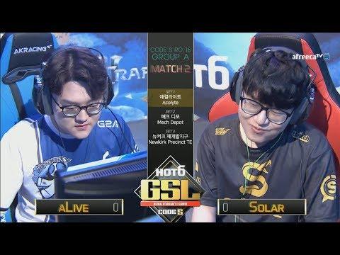 [2017 GSL Season 3]Code S Ro.16 Group A Match2 aLive vs Solar