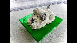 как сделать торт собаку