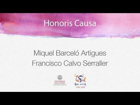 Acto de investidura como doctores honoris causa de Miquel Barceló y  Calvo Serraller USAL