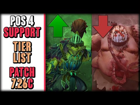 Position 4 Support Hero Tier List   Patch 7.26c Dota 2