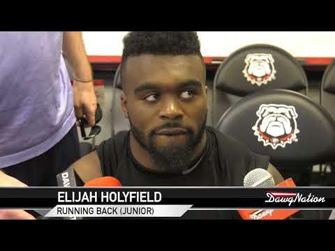 Elijah Holyfield speaks following G-day