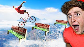 I Tried The IMPOSSIBLE BMX Stunt Challenge In GTA 5.. (Mods)