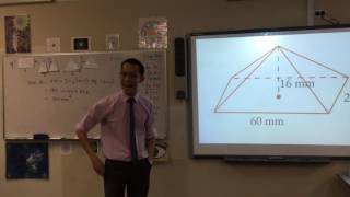 Surface Area of a Pyramid (2 of 2: Example question)