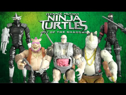 Teenage Mutant Ninja Turtles Out Of The Shadows Villains Figures From Playmates Toys Youtube