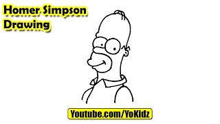 How to draw Homer Simpson easy