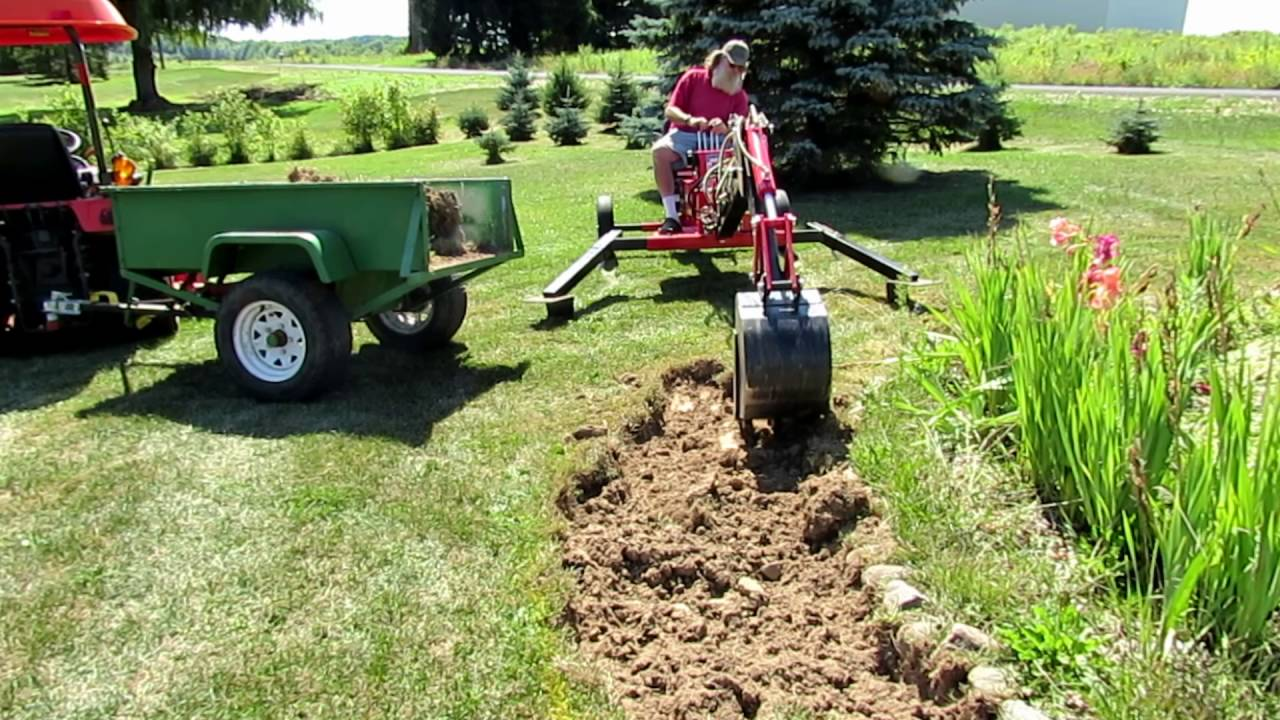 Harbor Freight Trencher Loading A Garden Cart