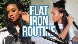 Hair Straightening Routine 2018 | Start to Finish