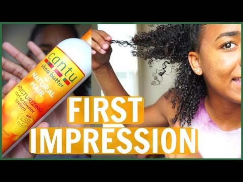 Cantu Shea Butter Moisturizing Curl Activator Cream FIRST IMPRESSION// On Natural 3C Curly Hair