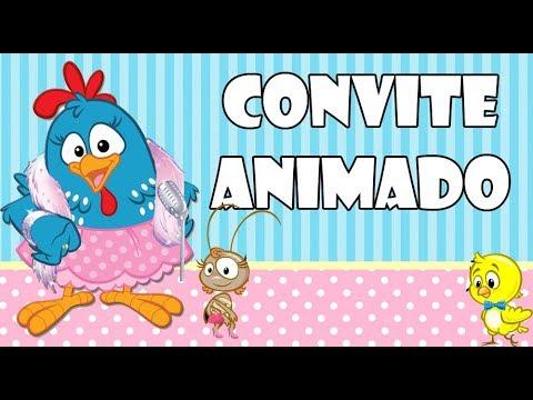 Convite Animado Galinha Pintadinha Chique Grátis YouTube
