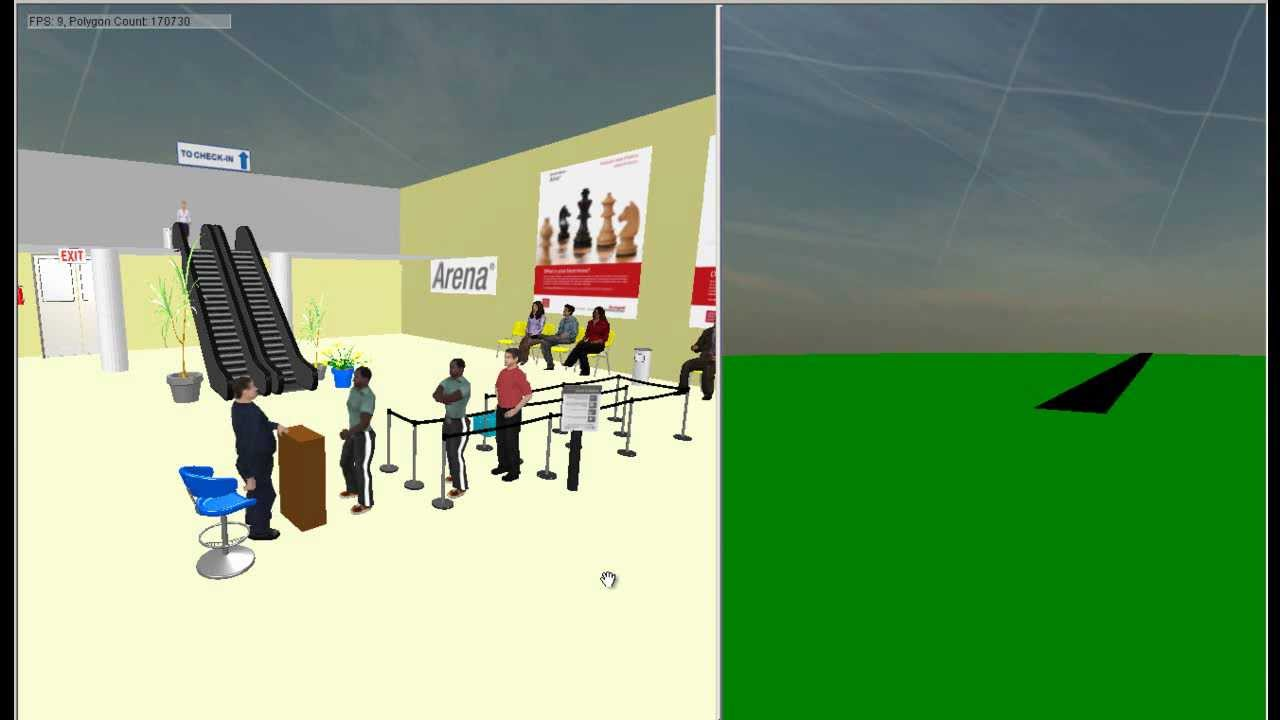 Arena 3d Example Airport Youtube