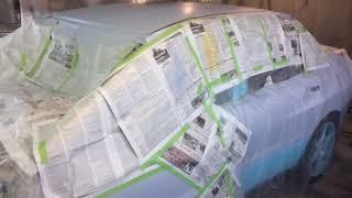 mitsubishi evolution. Замена цвета. часть 2. выкраска цвета. грунтуем кузов.