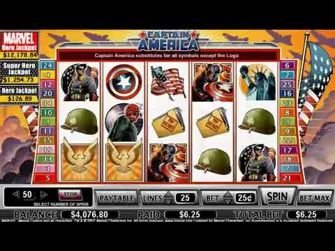 Игровые автоматы Captain America от Playtech