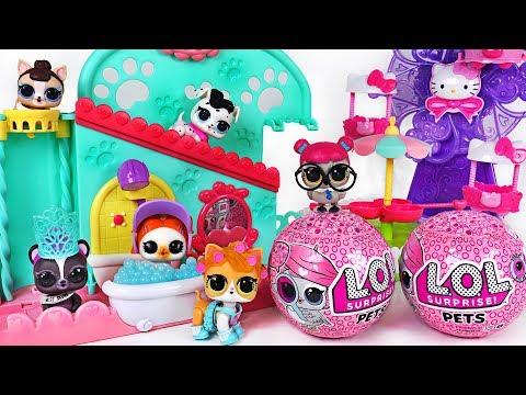 Chubby Puppies Pet Center, Hello Kitty amusement park LOL Series 4 Pets Surprise Eggs - PinkyPopTOY