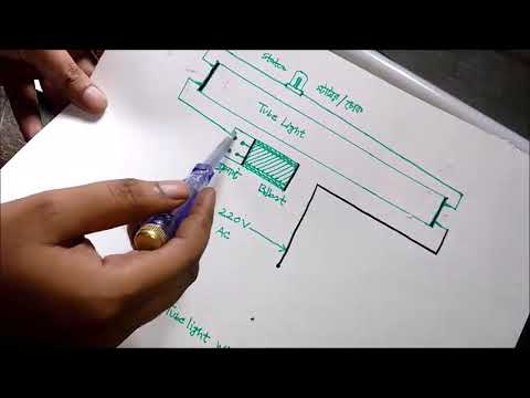Tube light working and connection explaining easy in new 2017/with wiring  diagram