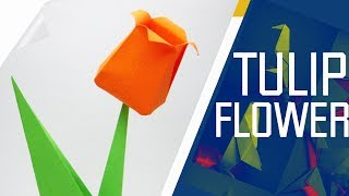 Origami - How To Make An Origami Tulip Flower