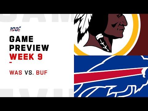 Washington Redskins Vs Buffalo Bills Week 9 NFL Game Preview