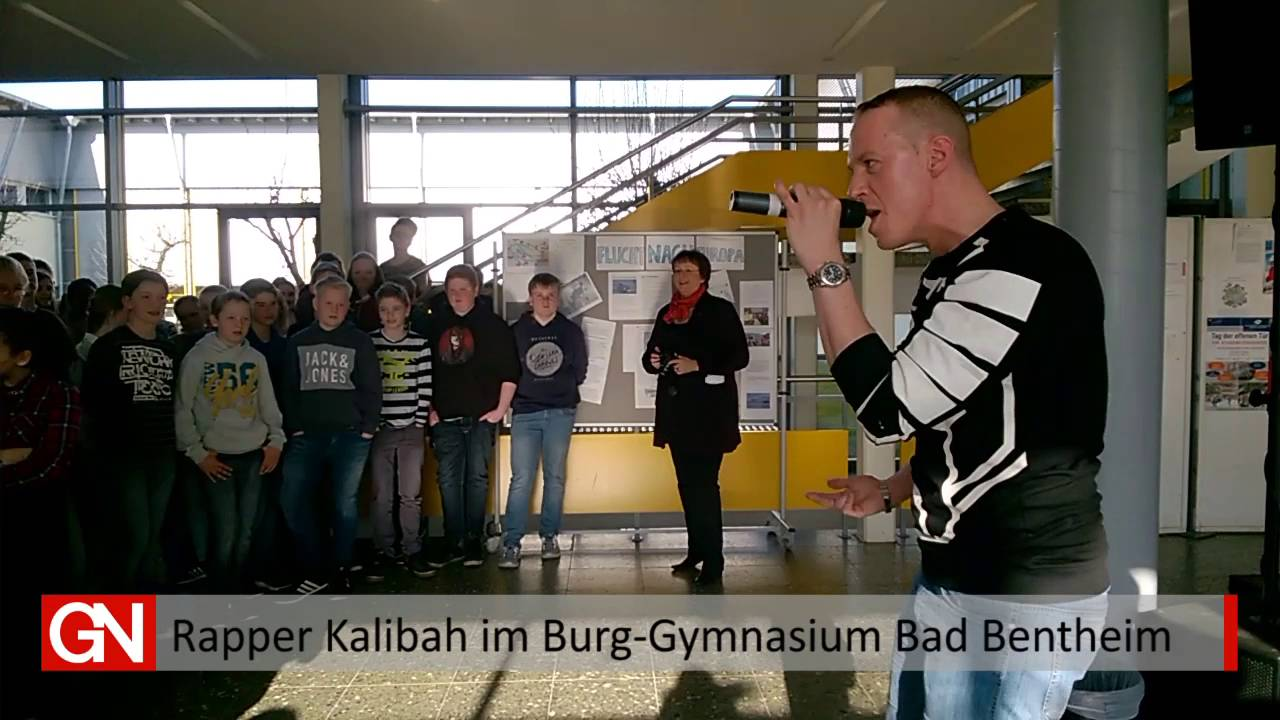 Rapper Kalibah Im Burg Gymnasium Youtube