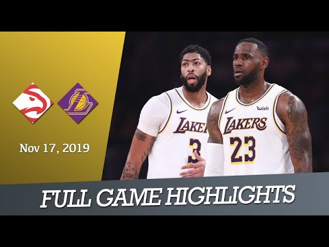 Atlanta Hawks vs LA Lakers - Full Game Highlights | Nov 17, 2019 | NBA 2019-20