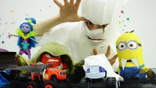 Вспыш и чудо машинки: костюмы Мумии и Дракулы на Хэллоуин