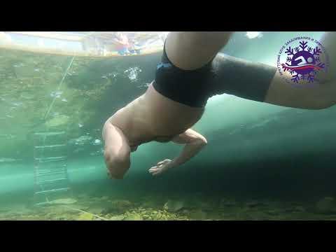 Плавание подо льдом Байкала дистанция 60 м