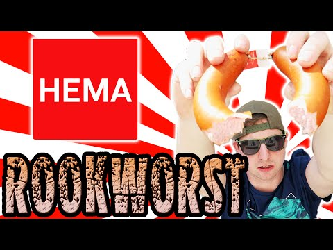 Hema Rookworst Dutch sausage  food review Netherlands