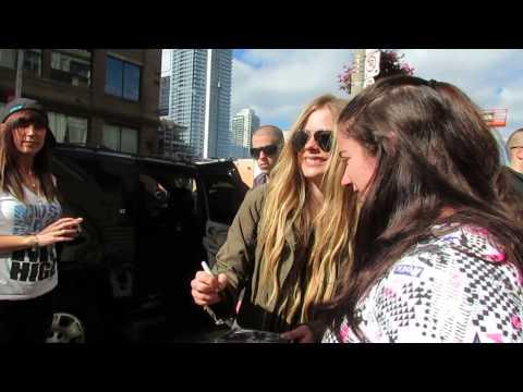 Meeting Avril Lavigne at Chum fm