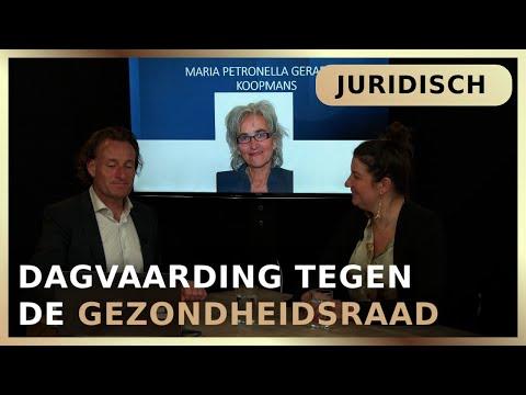 Dagvaarding tegen de Gezondheidsraad – Jeroen Pols en Maria-Louise Genet