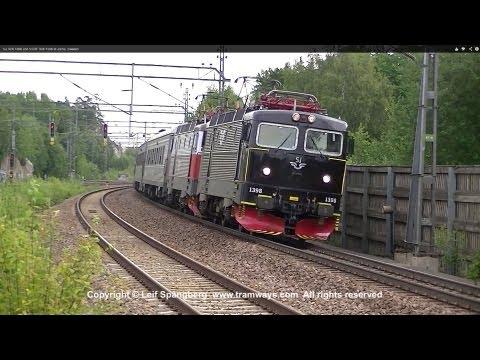 SJ Rc6 1398 and SSRT Rc6 1336 at Järna, Sweden