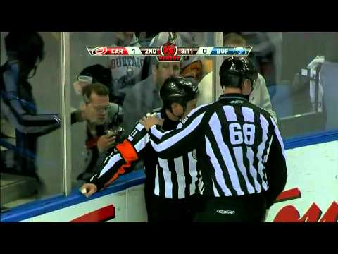 Ref Kelly Sutherland shows his toughness 3/15/11