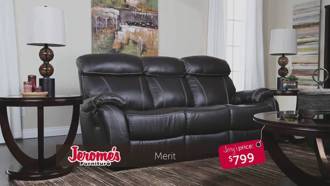 Jerome S Furniture Merit Leather Sofa