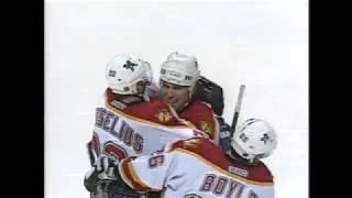 Ivan Novoseltsev picks up an assist on Huselius goal (2001)