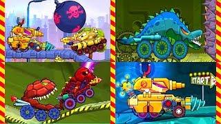 Монстр машина против танка. Новые серии 45 МИН. Зубатая машина ест монстров и танки