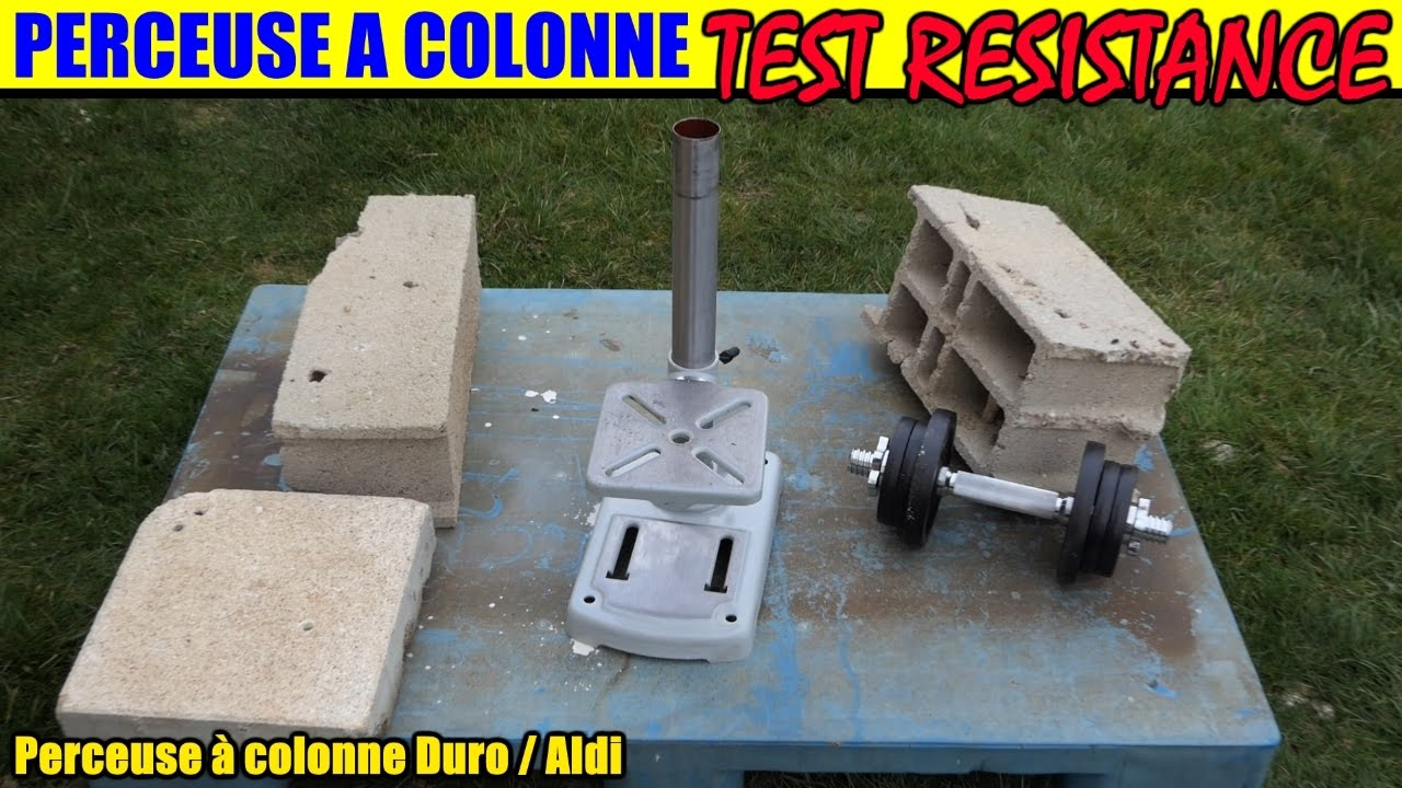 perceuse à colonne aldi duro test de résistance bench pillar drill  tischbohrmaschine