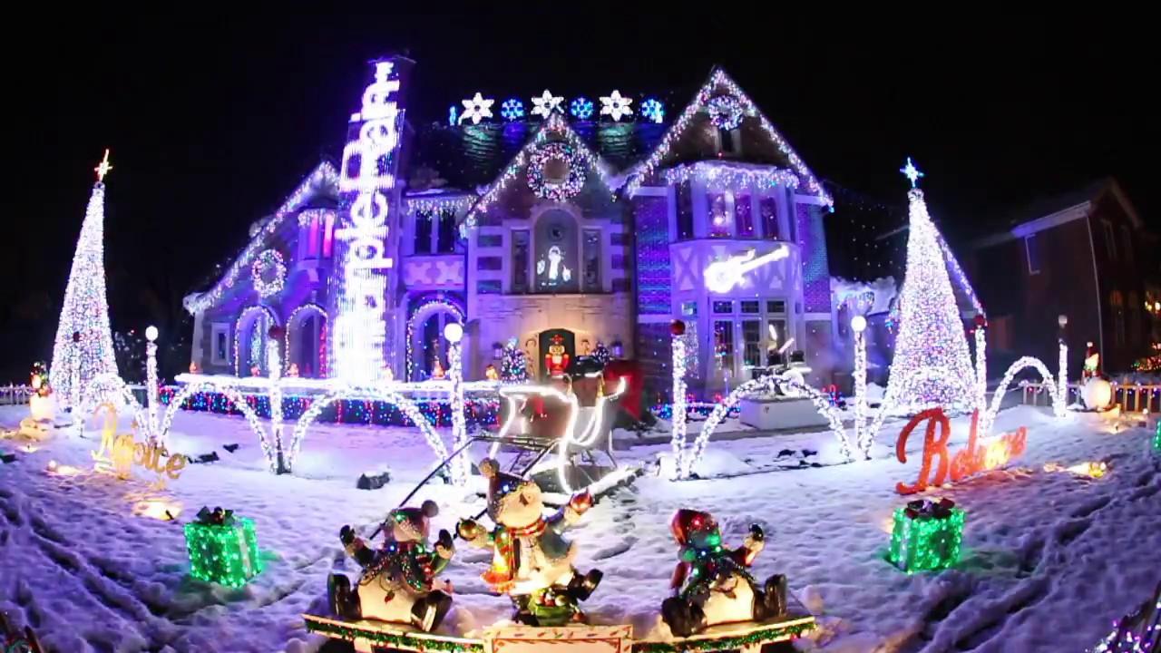 Park Ridge Christmas House 2020 This Prince themed Christmas lights display will help you get