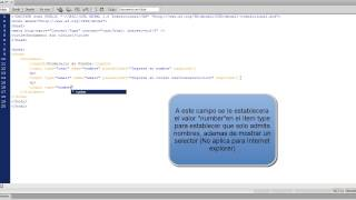 Creación formulario básico con validación de campos HTML5