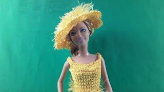 Урок вязания шляпки для Барби. Мастер-класс