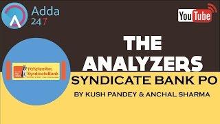 THE ANALYZERS - The Syndicate Bank 2017 PO EXAM ANALYSIS