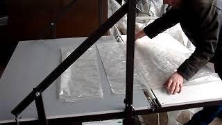 Упаковочный полуавтомат для пенопласта, минваты, обоев, крупного габарита