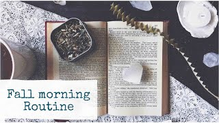 A Relaxing Fall Morning Routine | Self-care + Skin-care