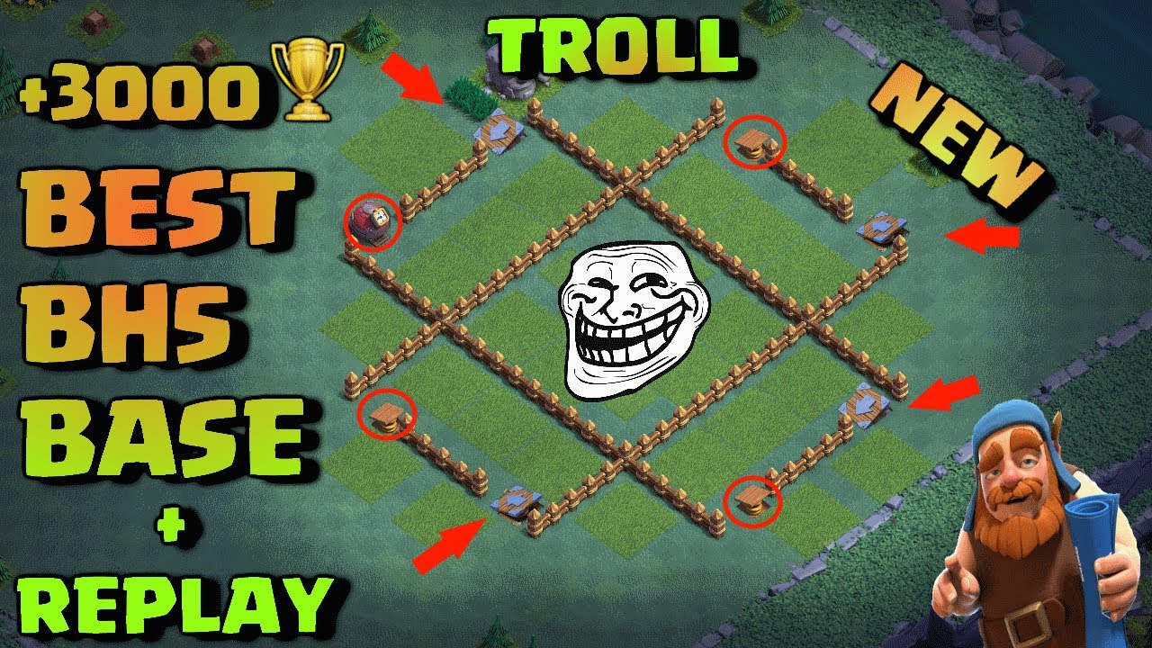 Best Builder Hall 5 Troll Base Bh5 Instant Death