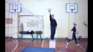 Волейбол, нападающий удар.