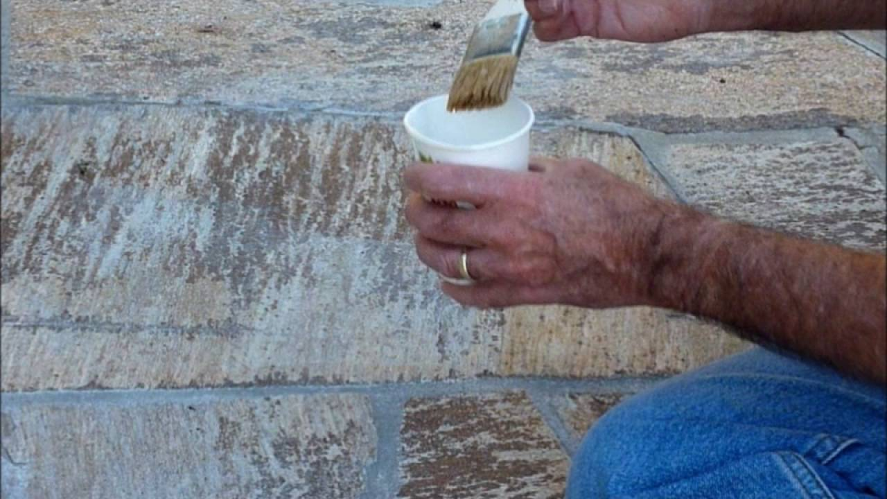 Restoring color to faded tile, stone, brick, or grout - YouTube