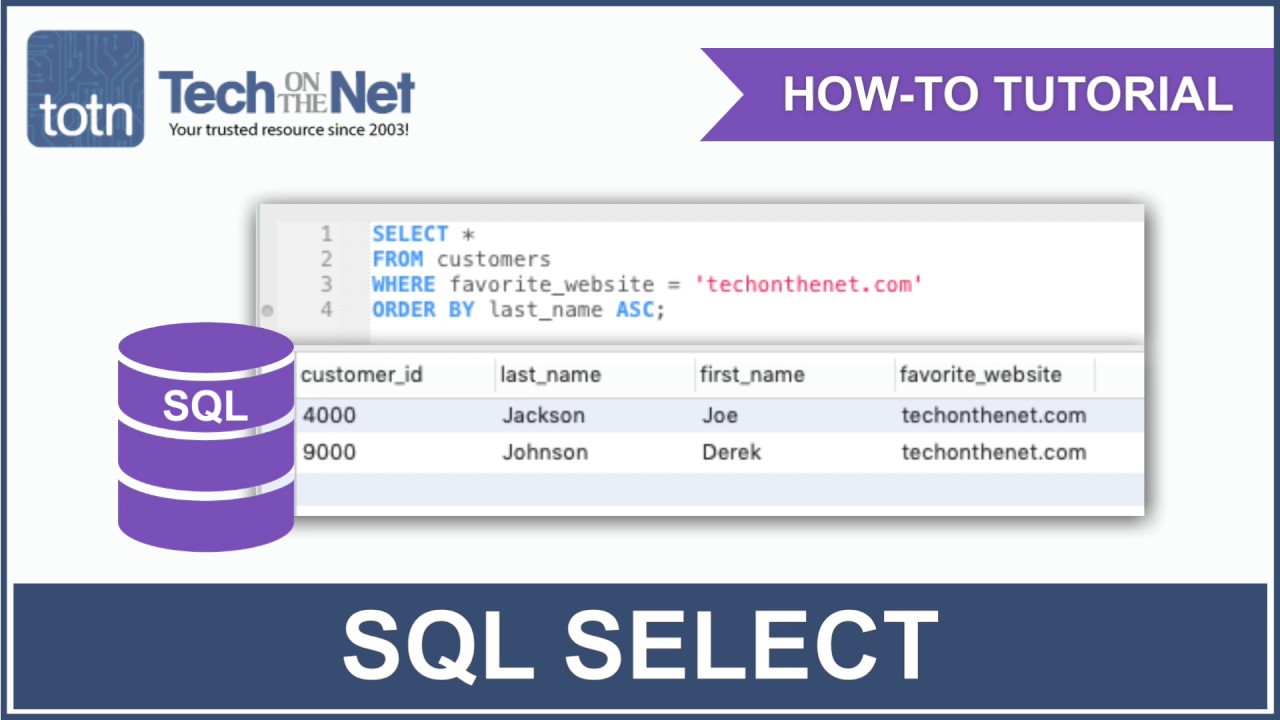SQL: SELECT Statement
