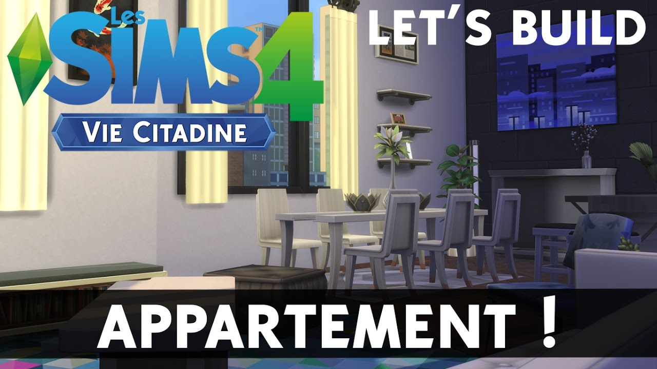 cr ation sims 4 vie citadine appartement moderne let. Black Bedroom Furniture Sets. Home Design Ideas